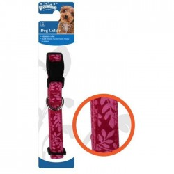 Pawise - 13233 Dog Collar Rose - Pembe Köpek Tasma (35-50cm/20mm) - M