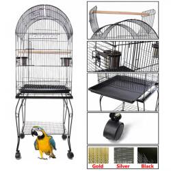 Fatih-Pet - 912 Papağan Kafesi Pirinç - 52x52x145 cm