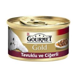 Nestle Purina - Gourmet Gold Tavuklu ve Ciğerli Kedi Konservesi 85g