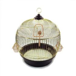 Fatih-Pet - Silindir A004 Kuş Kafesi Gold 36x45 cm