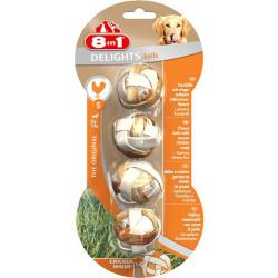 8IN1 - 8in1 Delights Balls Tavuklu Kemik Çiğneme Topu Small 4 lü 36 gr