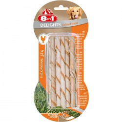 8IN1 - 8in1 Delights Twisted Sticks Tavuklu Burgu Çubuğu 10 lu 55 gr