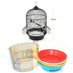 Fatih-Pet - A002 Silindir Kuş Kafesi Boyalı Mix Renk