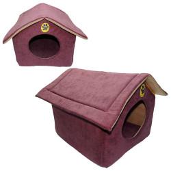Fatih-Pet - Çatılı Kedi&Köpek Evi Kumaş