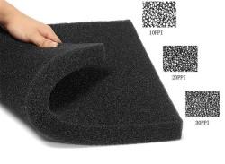 White Balance - Filtre Süngeri İnce Gözenekli Siyah 30 PPI 50x25x5 cm.