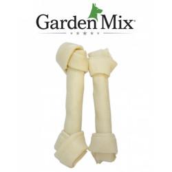 Garden Mix - Gardenmix Beyaz Düğüm Deri Kemik 17-19 cm/2 li
