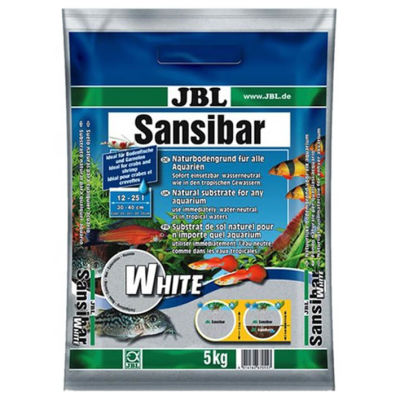 JBL Sansibar White 0,1-0,4 mm Akvaryum Kumu Beyaz 5 Kg