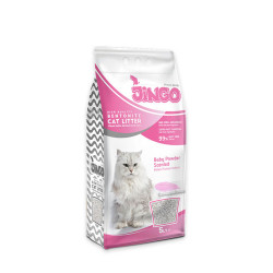 Jingo - Jingo Bebek Pudra Kokulu Bentonit Kedi Kumu İnce Taneli 5 L