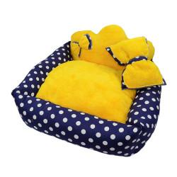 Little Friends - Little Friends Prenses Kedi&Köpek Yatağı Sarı