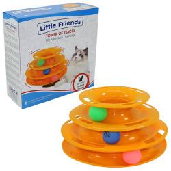 Little Friends - Little Friends Üç Katlı Toplu Kedi Oyuncağı