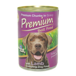 Premium - Premium Lamb - Kuzu Etli Köpek Konservesi 410g/24 lü
